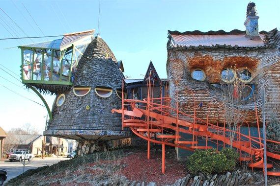 organic shaped mushroom house