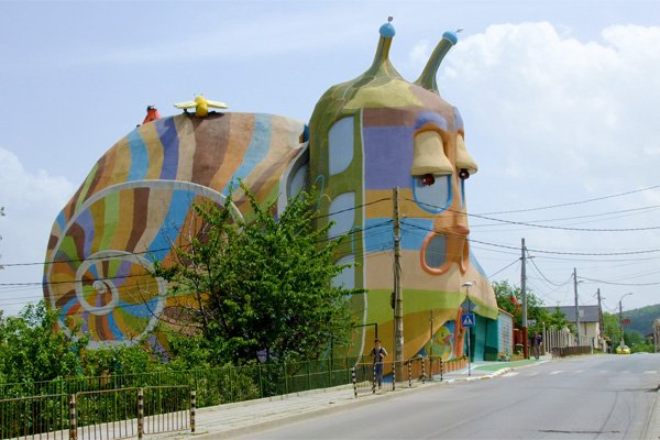 multi-colored snail house