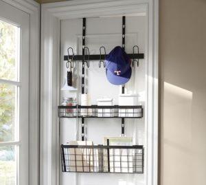 storage shelf over the door